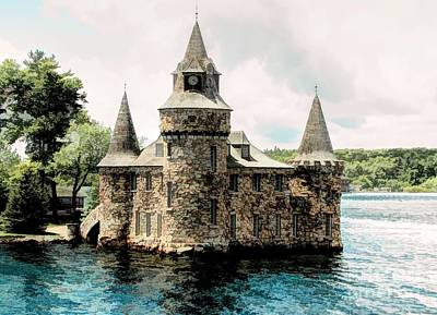 Photograph - Boldt Castle Power House Illustration Effect by Rose Santuci-Sofranko