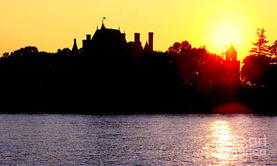 Photograph - Boldt Castle Sunset by Olivier Le Queinec