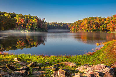Photograph - Boley Lake In The Fall by Mary Almond