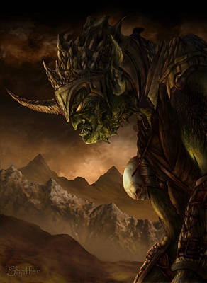Bolg The Goblin King Art Print