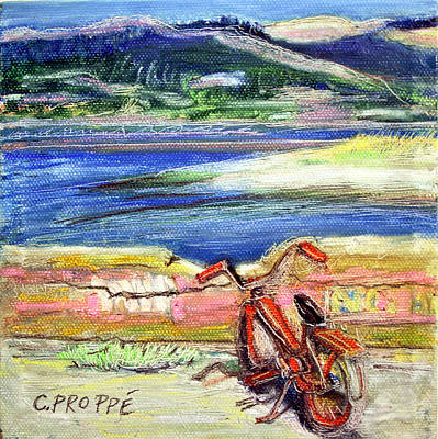 Bolinas Bike Art Print by Colleen Proppe