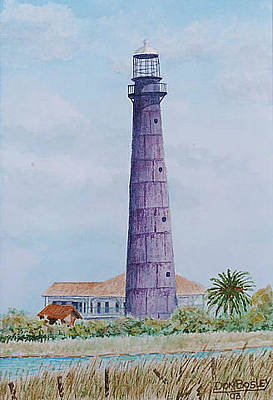 Painting - Bolivar Lighthouse by Don Bosley