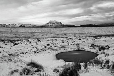 Wintry Landscape Photograph - Bolivian Altiplano In Winter by James Brunker