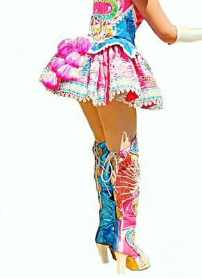 Bolivian Dancer Art Print by Diana Angstadt