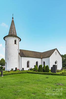 Photograph - Bollerups Church In Sweden by Antony McAulay