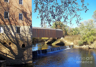 Photograph - Bollinger Mill And Covered Bridge  by Tom Conboy