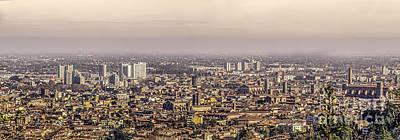 Leinwand Photograph - Bologna Aerial View Canvas by Luca Lorenzelli