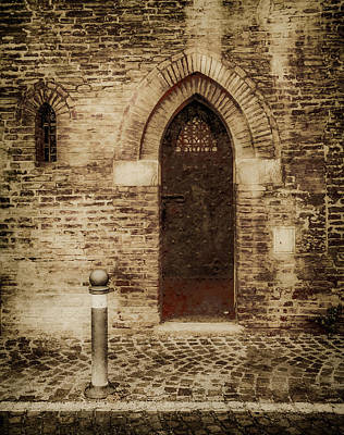 Photograph - Bologna, Italy - Gothic Door by Mark Forte