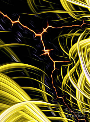 Digital Art - Bolt Through by Vix Edwards