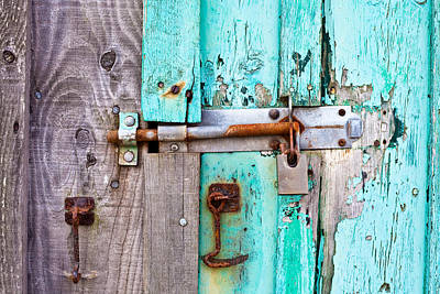 Keys Photograph - Bolted Door by Tom Gowanlock