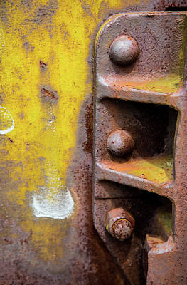 Photograph - Bolted Iron by Karol Livote