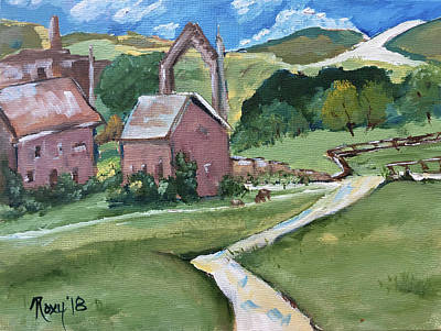 Landscapes Painting - Bolton Abbey by Roxy Rich