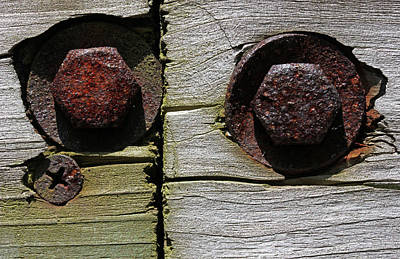 Photograph - Bolts And A Single Screw by Mary Bedy