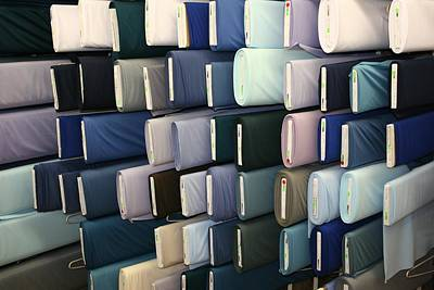 Photograph - Bolts In An Amish Fabric Store by Polly Castor