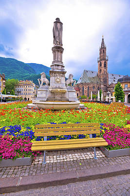 Photograph - Bolzano Main Square And Cathedral View by Brch Photography