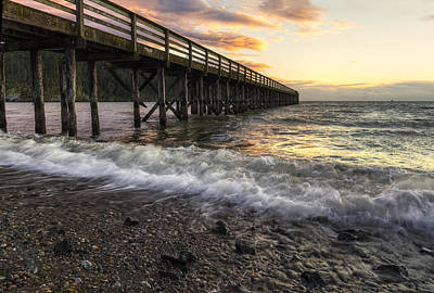 Juan De Fuca Photograph - Bowman Bay Sunset 2 by Mark Kiver