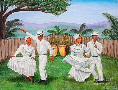 Bomba Dance Art Print by Juan Gonzalez