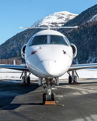 Airplane Photograph - Bombardier Global 5000 Oe-inc by Roberto Chiartano