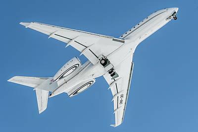 Aerospace Photograph - Bombardier Global 5000 Oe-inc Take Off Bottom by Roberto Chiartano