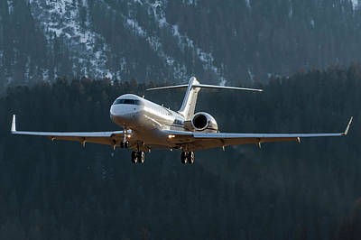 Commercial Photograph - Bombardier Global Xrs D-arko by Roberto Chiartano