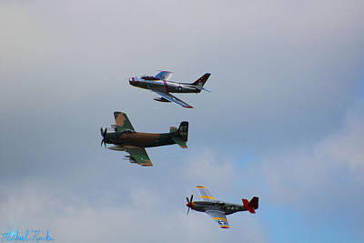 Photograph - Bomber Escorts by Michael Rucker