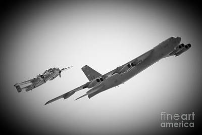 Bomber Pair Art Print by Bob Mintie