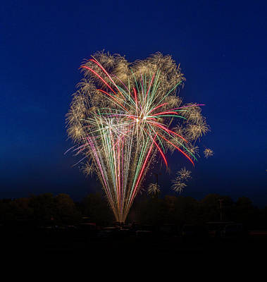Photograph - Bombs Bursting In Air II by Harry B Brown