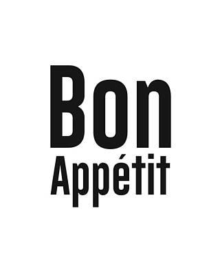 Mixed Media Royalty Free Images - Bon Appetit 2 - Good Food - Minimalist Print Royalty-Free Image by Studio Grafiikka