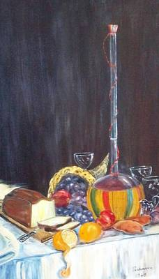 Horn Of Plenty Painting - Bon Appetit by Alfred P  Verhoeven