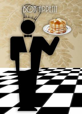 Mixed Media - Bon Appetit Art by Marvin Blaine