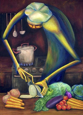 Painting - Bon Appetit by Virginia Palomeque
