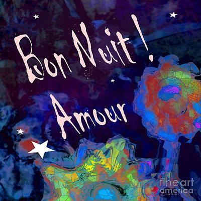 Digital Art - Bon Nuit Duvet by Zsanan Narrin