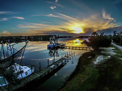 Photograph - Bon Secour River Sunset by Michael Thomas