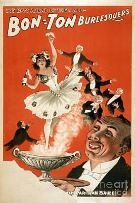 Bon-ton Burlesque Vintage Poster 1 Art Print by Edward Fielding