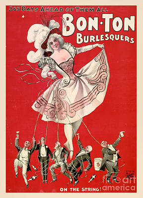 Burlesque Drawing - Bon Ton Burlesquers 365 Days Ahead Of Them All by Carsten Reisinger