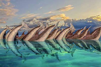 Coastal Landscape Digital Art - Bon Voyage by Betsy Knapp