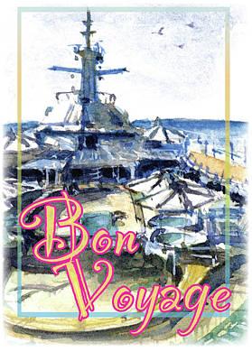 Painting - Bon Voyage Cruise by John D Benson