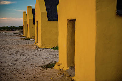 Photograph - Bonaire - Slave Huts Evening Glow by Mark Robert Rogers