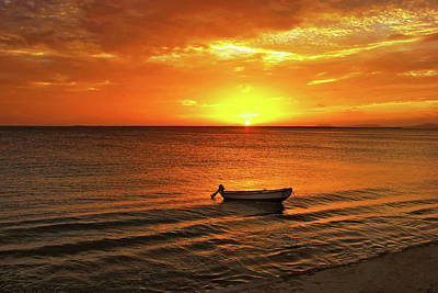 Bonaire Sunset 4 Art Print by Stephen Anderson