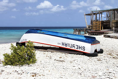 Photograph - Bonaire. The Old Boat by Yelena Rozov
