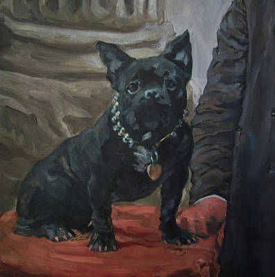 Painting - Bonaparte The French Bulldog by Lynn Gimby-Bougerol