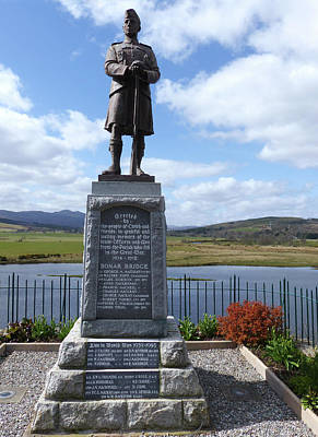 Photograph - Bonar Bridge War Memorial by Phil Banks