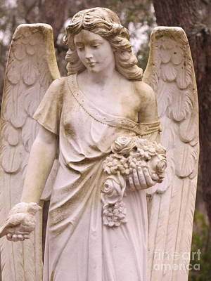 Photograph - Bonaventure Angel by Cindy Fleener
