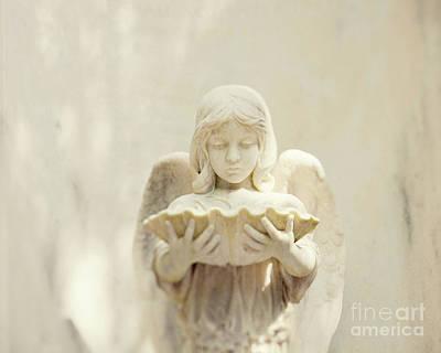 Bonaventure Cemetery Angel Art Print by Erin Johnson