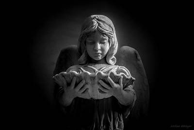 Photograph - Bonaventure Cemetery Angel by Melissa Bittinger