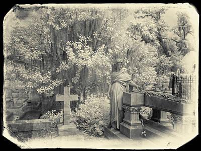 Savannah Infrared Photograph - Bonaventure Cemetery Ir 1076 by Bob Neiman