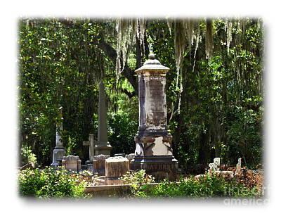 Photograph - Bonaventure Cemetery Memorials by Jacqueline M Lewis