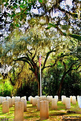 Photograph - Bonaventure World War 2 Cemetery H D R by Lisa Wooten