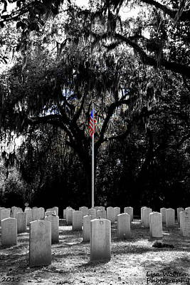Photograph - Bonaventure World War 2 Cemetery Vertical by Lisa Wooten