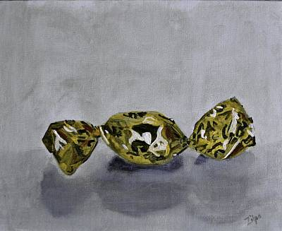 Painting - Bonbon Wrapped In Gold by Zilpa Van der Gragt